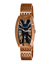 Laura rose gold-tone oval face watch