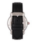 Daphne steel & black leather strap watch Sale - bertha Sale