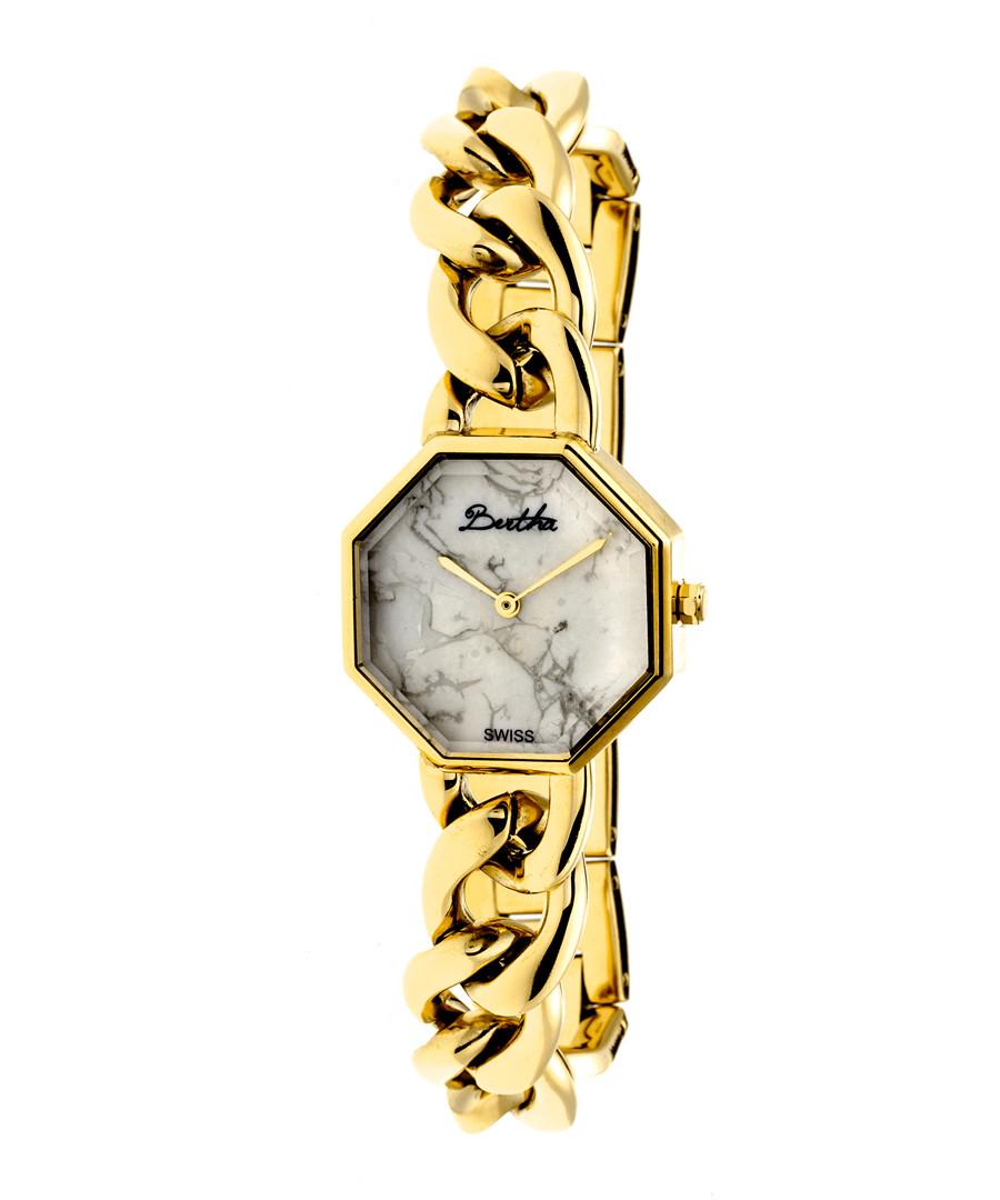 Ethel gold-tone stainless steel watch Sale - bertha