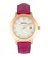 Eden rose gold-tone & pink leather watch Sale - bertha Sale