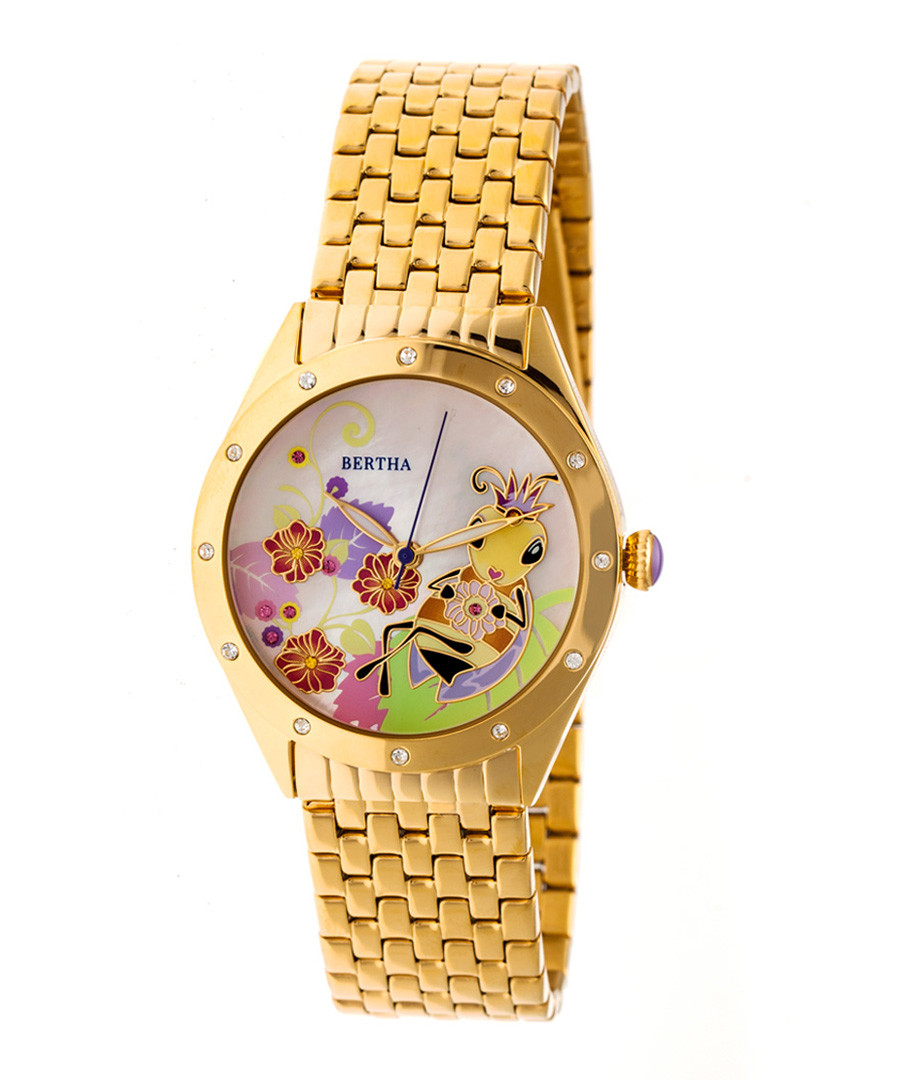 Ericka gold-tone stainless steel watch Sale - bertha