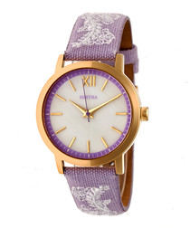 Penelope lilac & gold-tone steel watch