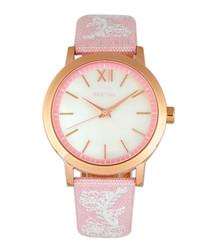 Penelope pink & rose-gold tone watch