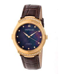 Francesca dark brown leather watch