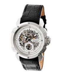 Conrad black leather watch