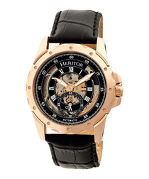 Armstrong black leather watch