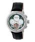 Aura black & silver-tone leather watch Sale - heritor automatic Sale
