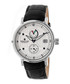 Leopold black & white leather watch Sale - heritor automatic Sale
