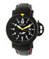 Cahill black & white leather watch Sale - heritor automatic Sale