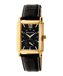 Frederick black leather watch