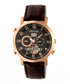 Edmond brown leather watch  Sale - heritor automatic Sale
