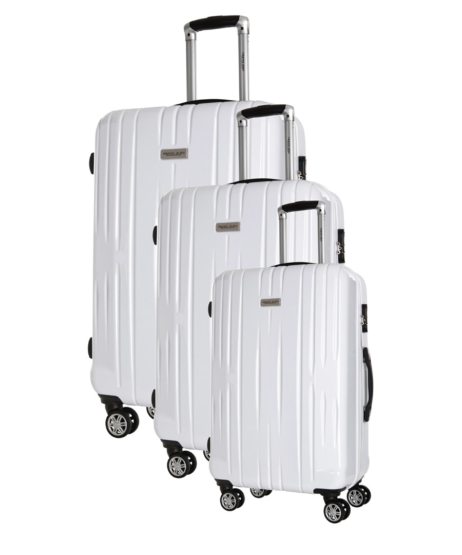 3pc Clifton white spinner suitcase nest Sale - travel one