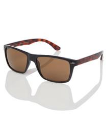 Rhett black & tortoiseshell sunglasses