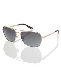 Dunne gold-tone aviator sunglasses