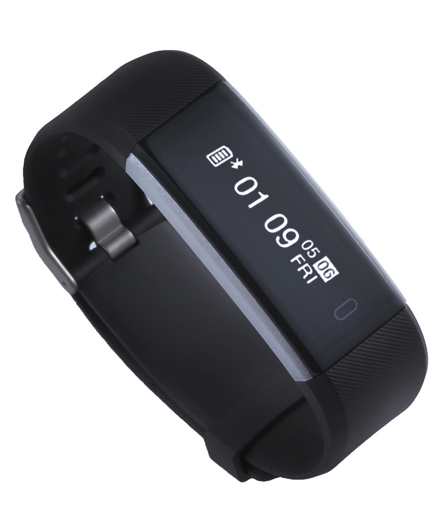 Black connected heart rate sportswatch Sale - Inki