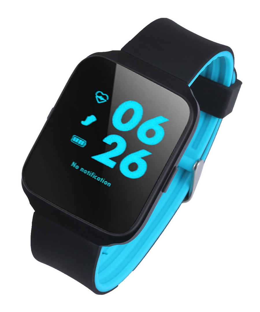 Blue connected heart rate sports watch Sale - Inki