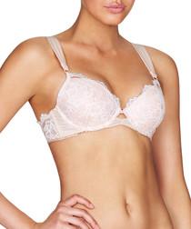 Lolita cream lace push-up plunge bra