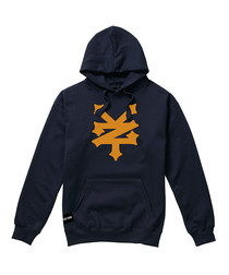 Corning navy cotton blend hoodie