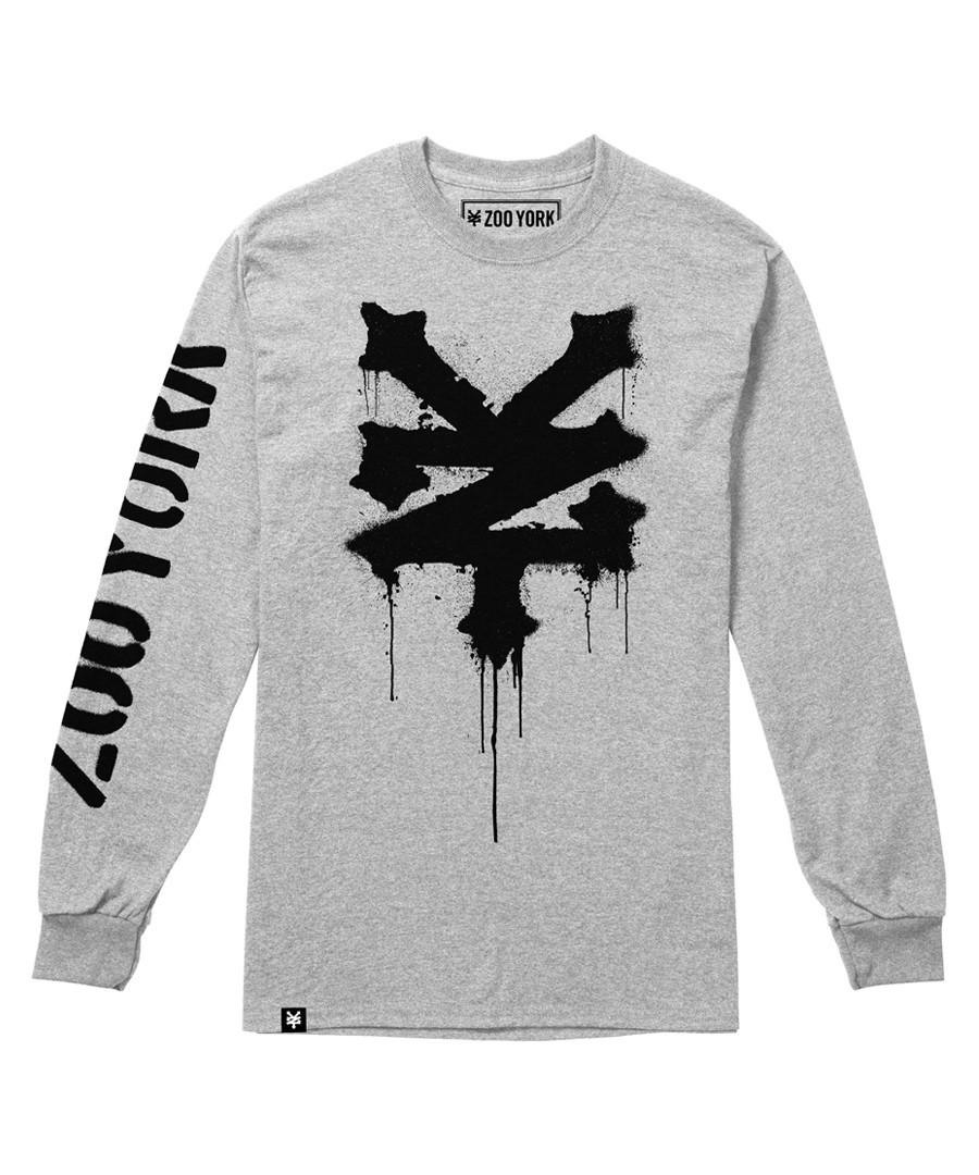 Stencil grey pure cotton jumper Sale - Zoo York
