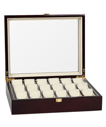 Brown 18-watch collector box