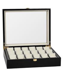 Black 18-watch collector box