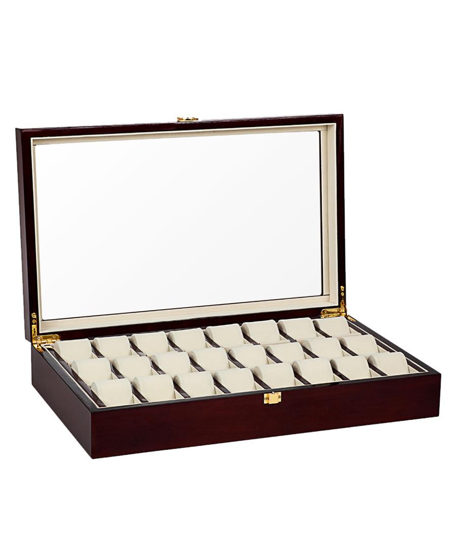 Brown 24-watch collector case Sale - mathieu legrand