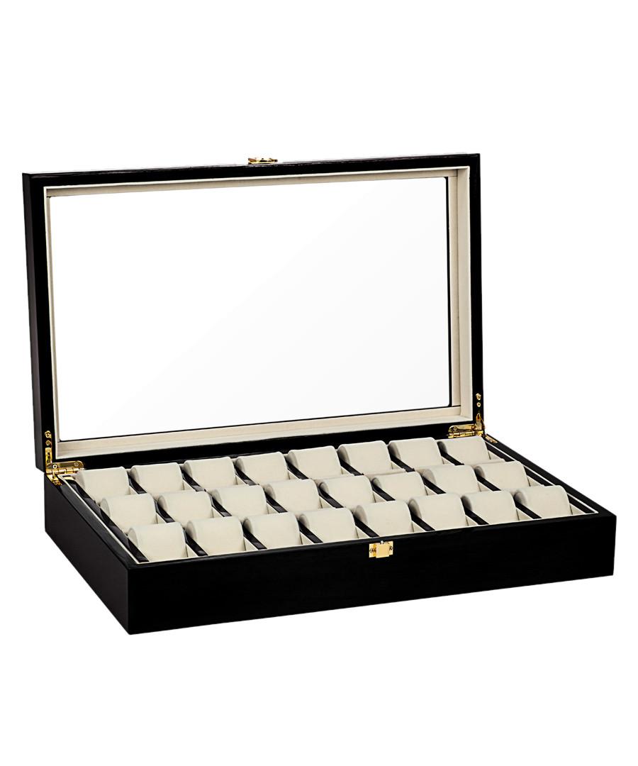 Black 24-watch collector case Sale - mathis montabon
