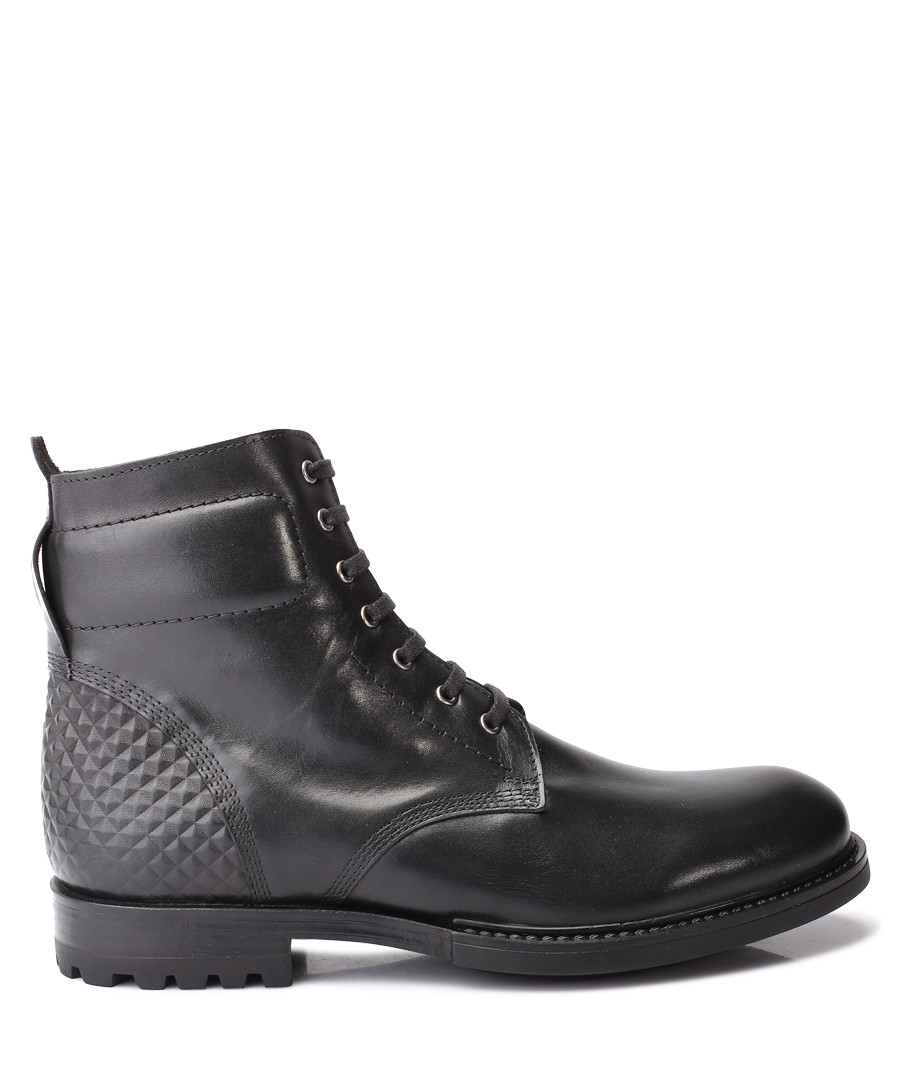 Black leather lace-up ankle boots Sale - s baker