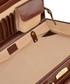 Cognac leather rectangular briefcase Sale - woodland leathers Sale