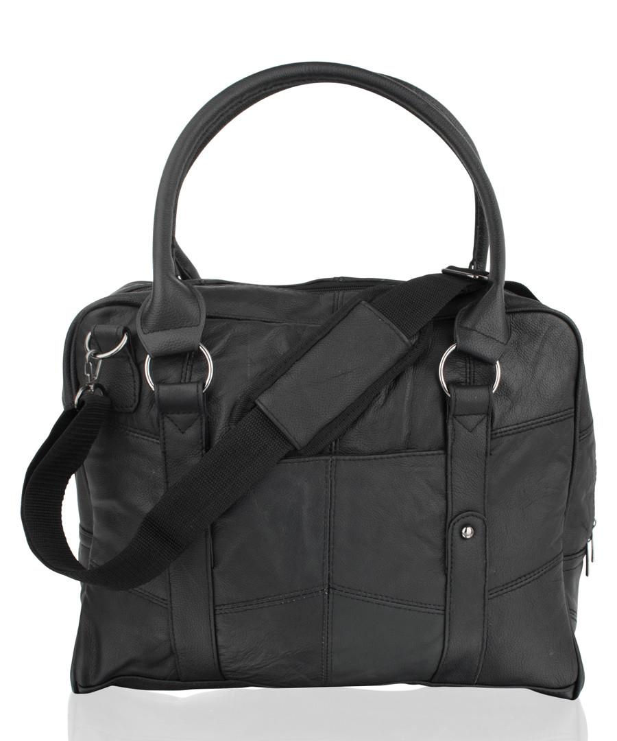 Black leather travel briefcase  Sale - lorenz