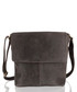 Dark brown suede messenger bag Sale - woodland leather Sale
