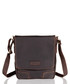 Brown leather portrait messenger bag Sale - woodland leathers Sale