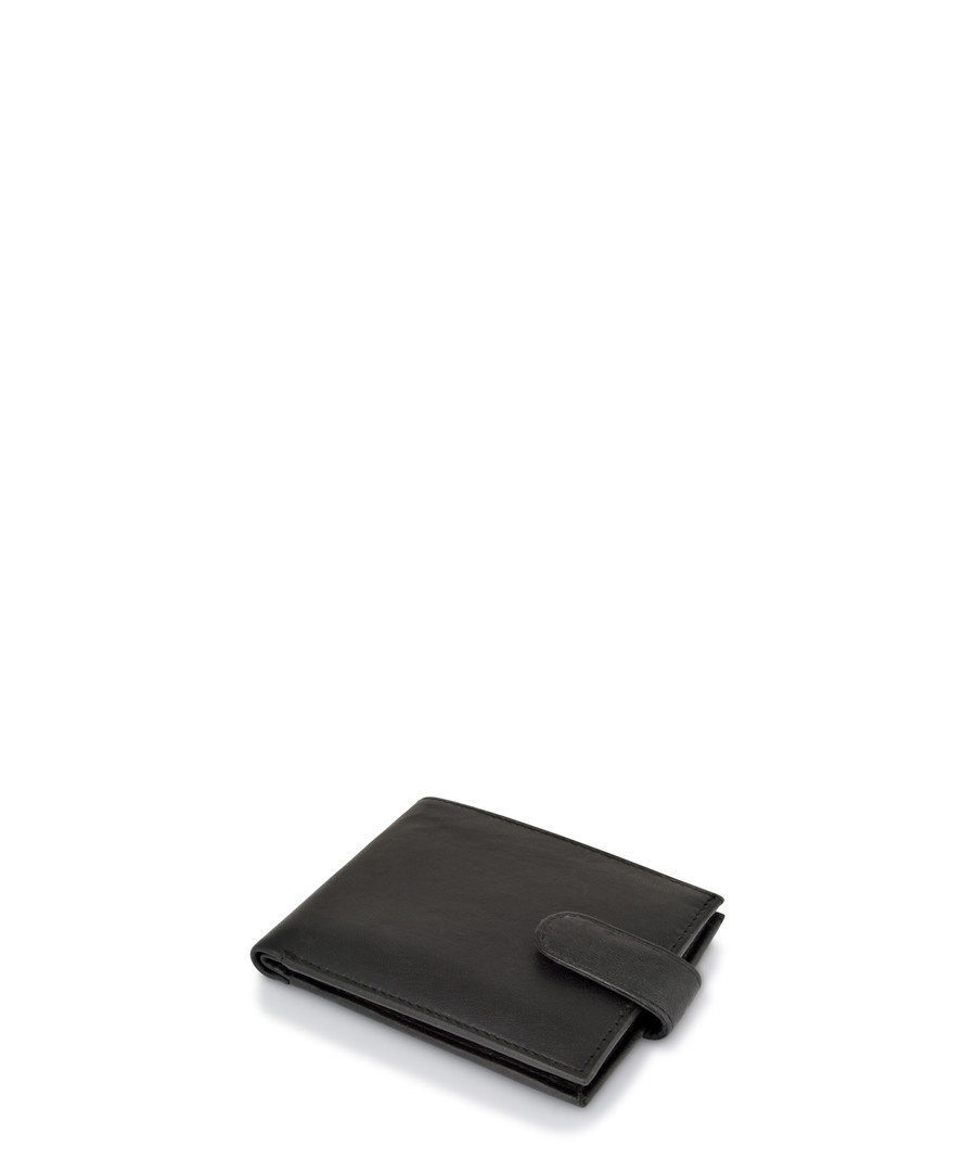 Black leather strap wallet Sale - woodland leathers