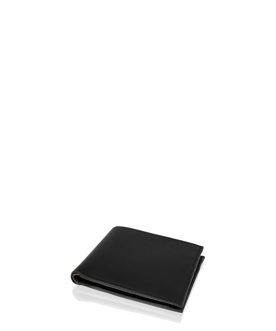 Black leather flap wallet Sale - woodland leathers