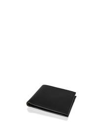 Black leather flap wallet