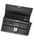 Black & silver-tone leather briefcase Sale - woodland leather Sale