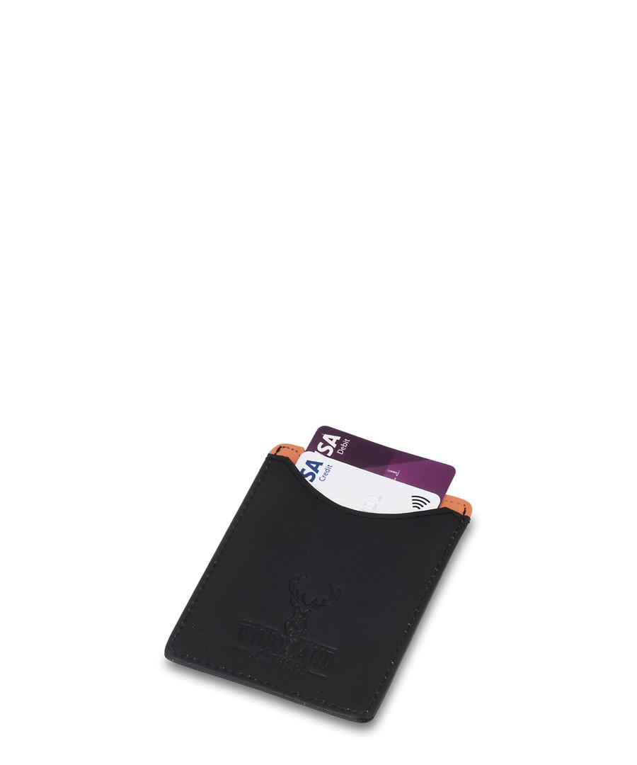 Black & tan leather flat card holder  Sale - woodland leather
