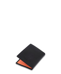 Black & tan leather card holder