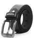 Men's Black & silver-tone leather belt  Sale - woodland leather Sale