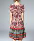 Multi-colour silk geometric print dress Sale - ELENYUN Sale