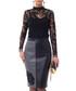 Black & grey panel midi skirt Sale - Iren Klairie Sale