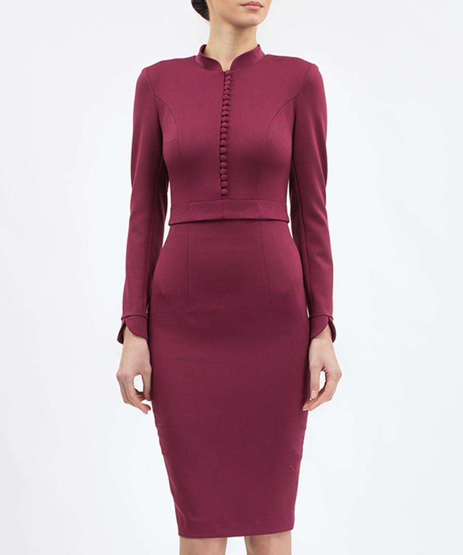Lilac button-up high-neck dress Sale - BGL