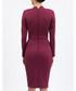Lilac button-up high-neck dress Sale - BGL Sale