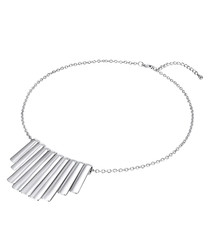 Silver-plated alloy bar necklace