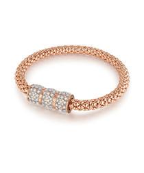 Rose gold-plated & crystal bracelet