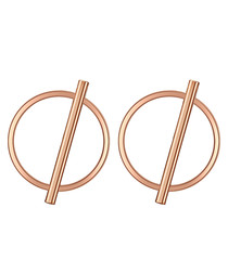 Rose gold-plated abstract stud earrings