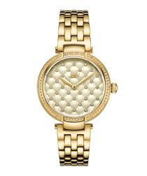 Gala 18k gold-plated steel watch