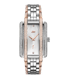 Mink 18ct rose gold-plated diamond watch
