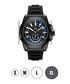 Delmare black ion-plated silicone watch Sale - jbw Sale