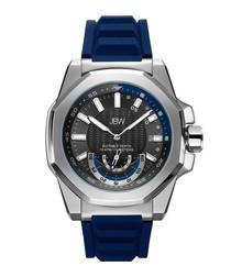 Delmare silver-tone & blue watch